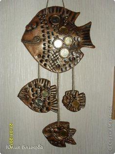 Поделка изделие Лепка Рыбки из солёного теста Тесто соленое фото 5