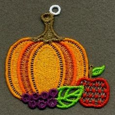 FSL Thanksgiving Ornaments Set, 10 Designs - 4x4 | What's New | Machine Embroidery Designs | SWAKembroidery.com Ace Points Embroidery