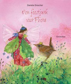Een feestjurk voor Fliera. Mol, Muis en Egel doen hun best om een mooie feestjurk voor Fliera te bedenken, maar Fliera heeft zich iets heel anders voorgesteld. Ze droomt van een jurk die straalt als de Maan, zacht is als vlindervleugels en glinstert als de sterren. Wie zou haar kunnen helpen?