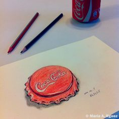 #OpenHappiness  #dibujo #lápiz #CocaCola  https://instagram.com/marialonsorguez/