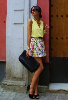 Pretty Summer Fashion Combinations With Flowers