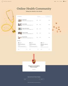 Online Health Community | Wix Website Template