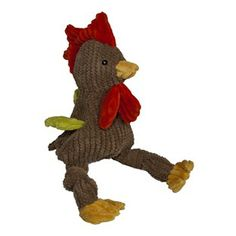 HuggleHound Woodland Knotties Dog Toy Rooster, Small
