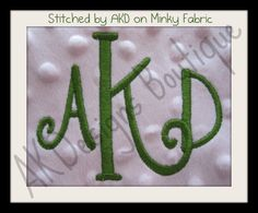 AKDesigns Boutique Machine Embroidery - No 1345 Swirly 3 Letter Monogram Machine Embroidery Designs for 4x4 Hoop, $7.20 (http://www.akdesignsboutique.com/no-1345-swirly-3-letter-monogram-machine-embroidery-designs-for-4x4-hoop/)