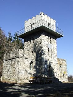 OK, this hardly qualifies as a true castle, as it has never been defended or inhabited. Still, the look of it is very much intended to depict a castle: Lookout tower at the Austia-Hungary border, Kőszeg.