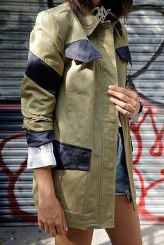 Manrepeller Military Jacket Olive Navy