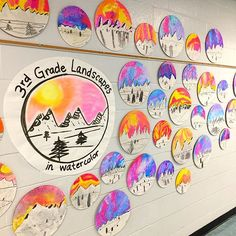 Cassie Stephens: In the Art Room: Top Ten Favorite Winter Art Lessons! Color Art Lessons, Op Art Lessons, Art Lessons Elementary, Elementary Art Rooms, Kindergarten Art Lessons, Classroom Art Projects, School Art Projects, Art Classroom, Art Education Projects