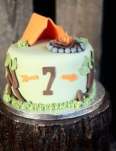 La tarta para los que son campistas hasta la médula!! ;) #camping #caravaning #ilovecamping