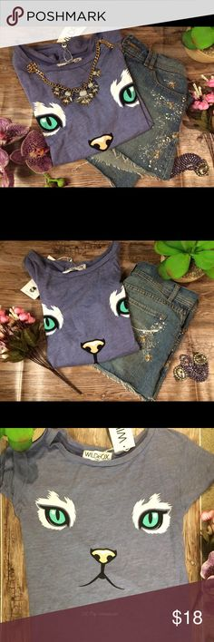 cotton cat tee Brand new with tag t shirt with cute cat design. Wildfox Tops Tees - Short Sleeve