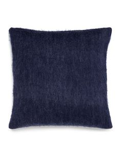 Faux mohair cushion, blue