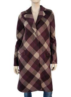 SALVATORE FERRAGAMO Double-Faced Virgin Wool Check Coat 40/6 ~ UPDATED CLASSIC! #SalvatoreFerragamo #BasicCoat #Anytime
