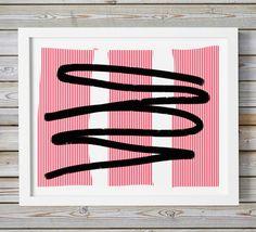Large #Art Minimalist #Contemporary Wall Art #Print #Abstract Horizontal #Modern Oversized Art Large Abstract Print Stripes 16x20 18x24 24x36 by WhitePrintDesign on Etsy