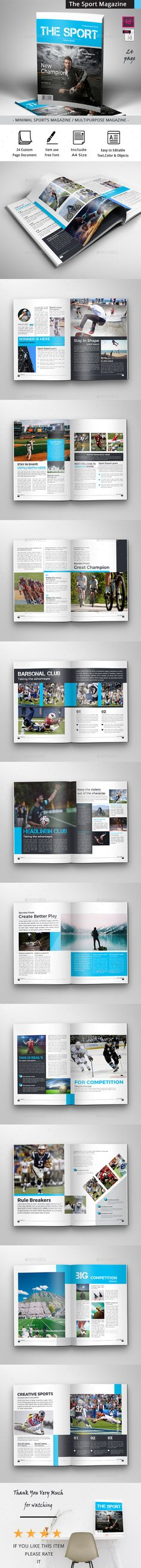 The Sport Magazine by obayes  Brochure Description:The Sport magazine Professional and clean InDesign template that is super simple to edit and customize with