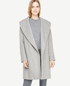 #Ann Taylor - #Ann Taylor Ann Taylor Petite Shawl Collar Wrap Coat - AdoreWe.com