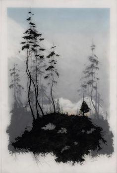 shane salz wedel art | Brooks Shane Salzwedel draws ephemeral landscape images in layers of ...