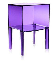 Pantone transparent ultraviolet kartell cabinet for bedside or living room use