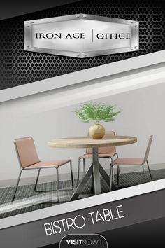 The Bistro table can be utilized for many applications. A small accent table in an executive office or a communal table in a break room or open workspace area. We offer the Bistro table in both round and square dimensions. #BISTRO #TABLE