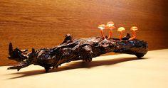 Ozdobna nastrojowa lampka led grzybki  w UniQueBags na DaWanda.com