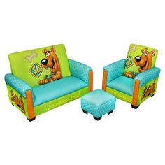 This Scooby Doo toddler furniture set is a great place for kids to sit around and solve mysteries. This Warner Brothers Scooby Doo chair, sofa and ottoman set … Scooby Doo Kids, Scooby Doo Images, Toddler Furniture Sets, Kids Furniture, Furniture Decor, Toddler Sofa Chair, Scooby Doo Mystery Incorporated, Chair And Ottoman Set, Bedroom Themes