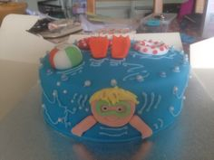 Pool Party Cake for my little boys birthday! Inspired by Pinterest!