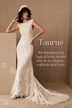Zodiac short sleeve lace fit and flare wedding dress inspiration – Taurus Fit And Flare Wedding Dress, Perfect Wedding Dress, Tulle Wedding Gown, Wedding Dresses, Elegant Ball Gowns, Boho Gown, Elegant Sophisticated, Romantic Lace, Gowns Of Elegance