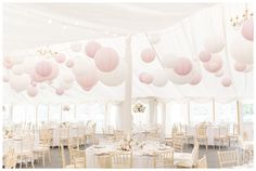 We love installing Paper Lanterns in Marquees, they really do add the WOW factor to any event, just like this fabulous scheme at Middleton Lodge www.weddingandevents.co.uk