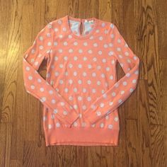 Adorable polka dot sweater from Anthro! Super cute sweater by moth from anthropologie. In great condition. Size small. Anthropologie Sweaters Crew & Scoop Necks