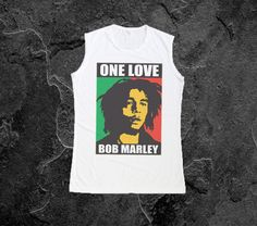 Bob+Marley+One+Love+Tank+Top+Tshirt+Womens+Muscle+Tee+by+RockerTee,+$14.99