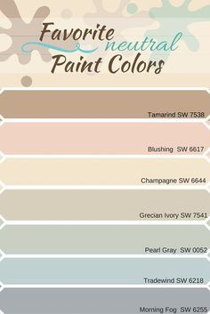 Selection of neutral paint colors from sherwin williams Hey everyone! I was looking at different neutral paint colors and decided to compile a list of my favorites. I absolutely love neutral colors because they are so flexible. Some of my favorites have… Neutral Paint Colors, Paint Color Schemes, Interior Paint Colors, Paint Colors For Home, Wall Colors, Nursery Paint Colors, Best Bedroom Paint Colors, Interior Design, Ivory Colour Paint