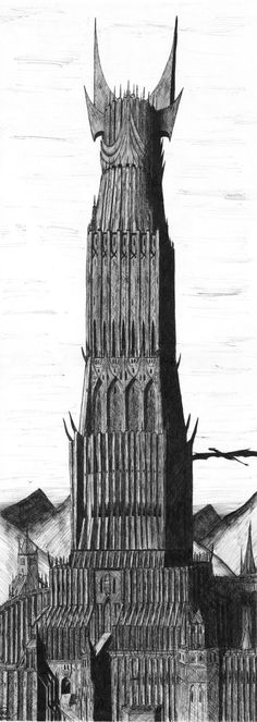 Barad Dur, the tower of Mordor