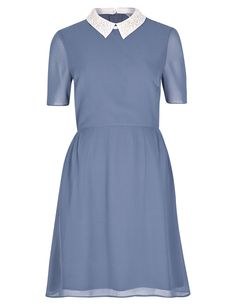 Embellished Collar Fit & Flare Dress | M&S LIMITED EDITION (Autumn 2014) Product Number: T692402J £35.00