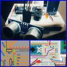 Después de horas el plano para el circuito impreso. #Alarm #Bike #MTB #Arduino #Android #Bluetooth #Fritzing by ramiromora