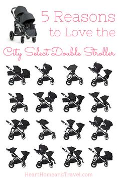 The City Select Double Stroller is perfect for the growing family! With 16 combinations, it's one of the most versatile strollers available! via /hearthometravel/ Get the perfect stroller for your child City Select Double Stroller, Double Baby Strollers, Baby Girl Strollers, Toddler Stroller, Best Double Stroller, Pram Stroller, Double Stroller For Twins, Baby Jogger City Select, Best Twin Strollers