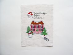Christmas Cross Stitch, Completed Cross Stitch 5x7, Twas the Night Before Christmas, X Stitch, Counted Cross Stitch by threadsandthings1 on Etsy