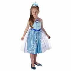 Deluxe Fit Layered Frozen Elsa Dress Princess - Size 4-6x