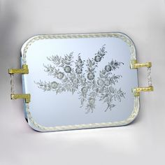 Authentic #venetian tray in #Murano #glass #mirror worked exclusively by hand with the ancient art of #Murano #glass masters. Each #mirror comes with certificate of authenticity.   Each product  is shipped with 100% INSURED EXPRESS COURIER .