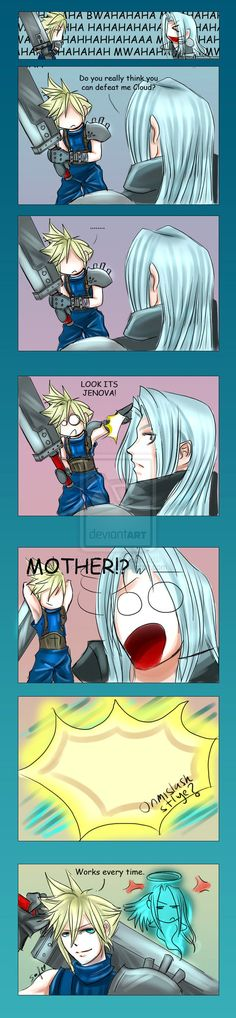 FF7: Sephiroths weakness by DarkLitria.deviantart.com on @deviantART