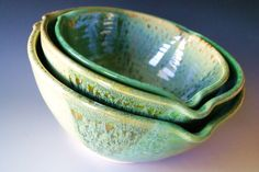 Ceramic Nesting Bowls / Handmade Pottery by riverstonepottery, $90.00