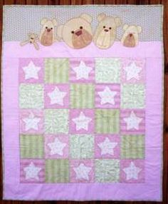 PRETTY TEDS IN BED quilt pattern