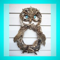 the coastal owl wreath by coastalwreath on Etsy