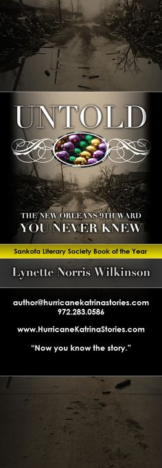 Flyer Design x Bookmark) for UNTOLD novel by Author Lynette Norris Wilkinson, designed by Moksha Media of Dallas - Daymond E.