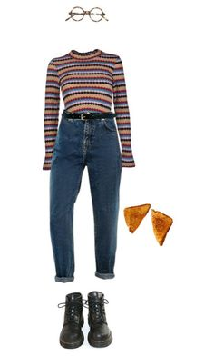 """the end of the fxxxing world"" by julietteisinthe80s ❤ liked on Polyvore featuring Jovonna, Warehouse and Dr. Martens #comfystyle #Homewear"