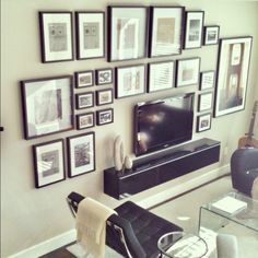 Ideas + Solutions for the Wall Behind the TV by @Jenna_Burger, www.sasinteriors.net