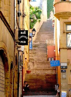 Old Quarter steps - Vieux Lyon, France Belle France, Lyon France, Paris France, Oh The Places You'll Go, Places Ive Been, Places To Visit, Beau Site, Belle Villa, French Countryside
