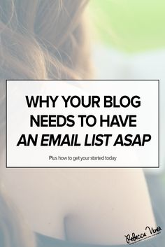why your blog needs an email list. how to start an email list using mail chimp. email list content ideas