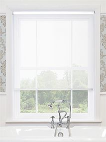Serenity Cloud White Voile Roller Blind