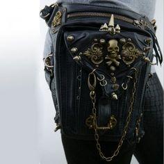 2017 New Mens And Womens Wallets Pu Skin Re Ancient Ways Punk Rock Fashion Rivet Bag