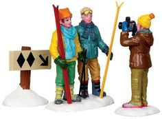 42226 - Summit Snaps, Set of 3 - Lemax Christmas Village Figurines - Lemax Village Collectibles