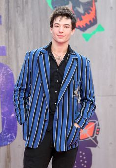 """Ezra Miller attends the European Premiere of """"Suicide Squad"""" at the Odeon Leicester Square on August 3, 2016 in London, England."""