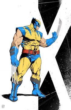X-Men: Wolverine Lines and colors by me Marvel Comic Universe, Marvel Comics Art, Comics Universe, Marvel Heroes, Marvel Comic Character, Comic Book Characters, Marvel Characters, Comic Books Art, Wolverine Character